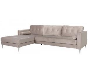 Canapé d'angle 2,5 places Kaki Louissa