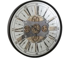 Horloge Chiffres Romains Miroir Antique Noir