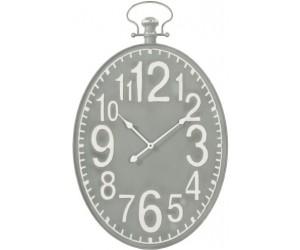 Horloge Ovale Metal Gris