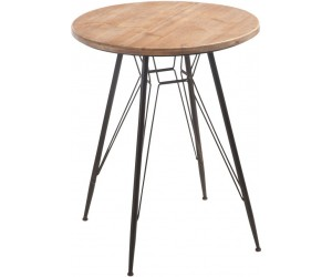 Table Bistro Metal/Bois Naturel/Noire