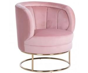 Fauteuil en velours rose velvet / gold Felicia