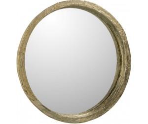 Miroir Fenetre Arrondi Metal Blanc Antique 53X4X165Cm
