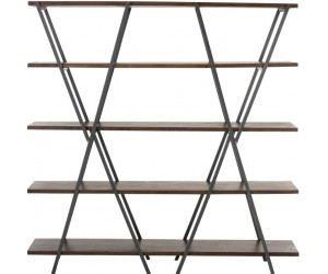 Etagere 5 Planches Oxidize Aluminium/Metal Antique Noir/VertTrempe Or/Transparent