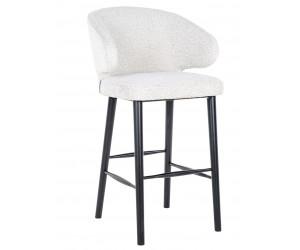 Bar stoel tabouret Chaise de bar Indigo White Bouclé