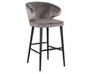 Bar stoel Tabouret Indigo Stone velvet