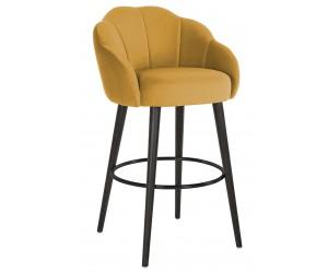 Bar stoel Tabouret Tulip Ochre velvet