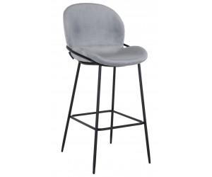 Bar stoel Tabouret Ella Steel velvet