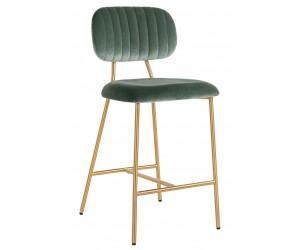 Bar stoel Tabouret Xenia Jade Velvet / Brushed Gold