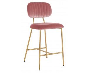 Bar stoel Tabouret Xenia Blush Velvet / Brushed Gold