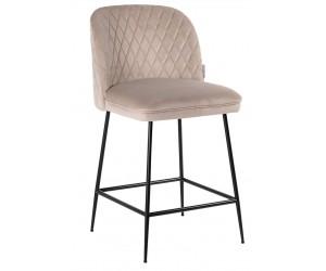 Bar stoel Tabouret Pullitzer Khaki velvet / noir