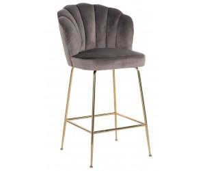Bar stoel Tabouret Pippa Stone velvet / gold