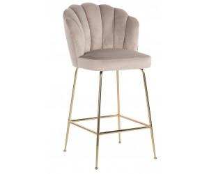 Bar stoel Tabouret Pippa Khaki velvet / gold