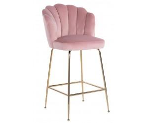 Bar stoel Tabouret Pippa Pink velvet / gold