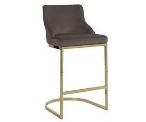 Bar stoel Tabouret Bolton Stone velvet / gold Fire Retardant