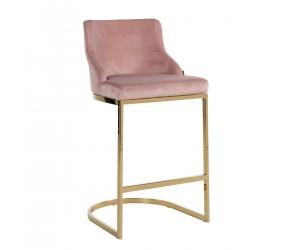 Bar stoel Tabouret Bolton Pink velvet / gold Fire Retardant