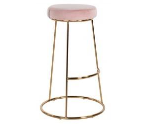 Bar stoel Tabouret Brandy Pink Velvet / dorée