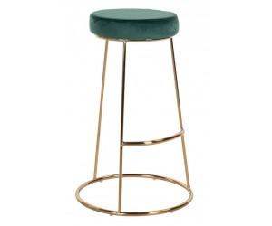 Bar stoel Tabouret Brandy Green Velvet / dorée