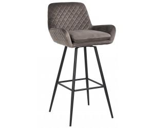 Bar stoel Tabouret Linsey pivotant Stone Velvet