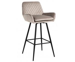Bar stoel Tabouret Linsey pivotant Khaki Velvet