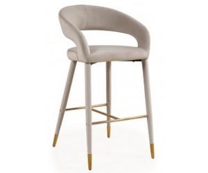 Barstoel Chaise de bar Tabouret Gia Quartz Khaki velvet