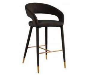 Barstoel Chaise de bar Tabouret Gia Quartz Antraciet velvet