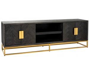 Meuble TV 185 Blackbone gold 4-portes Commode