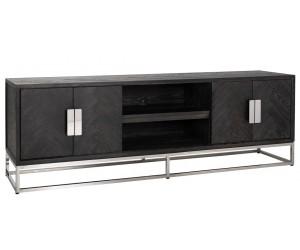 Meuble TV 185 Blackbone silver 4-portes