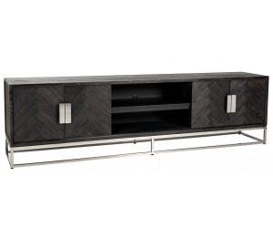 Meuble TV 220 Blackbone silver 4-portes