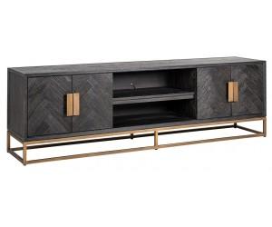 Meuble TV 200 Blackbone Brass 4-portes