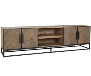 Meuble TV Herringbone 4-tiroirs Richmond Interiors Herringbone TV-meubel 220 cm