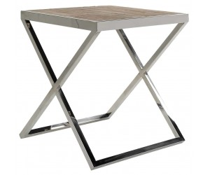 Richmond Interiors Table d'angle Redmond 55x55 Bijzettafel Table d'appoint Table d'angle Laptoptafel