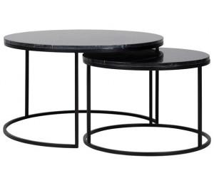Richmond Interiors Table de salon Beaumont set of 2 marbre noir alontafel Table de salon Coffee table