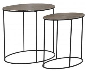 Richmond Interiors Jude Bijzettafel Set Table Jude set or 2 oval Table de salon Jude set de 2