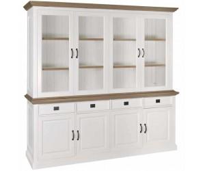 Richmond Interiors Opbergkast Bibliothèque Boekenkast Wandkast Présentoir Buffet-Vitrine Oakdale 2x4-portes 4-tiroirs