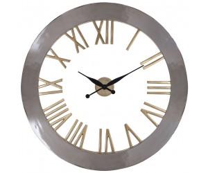 Richmond interiors Horloge Mural Acier inoxydable Horloge Derex avec paillettes dorée