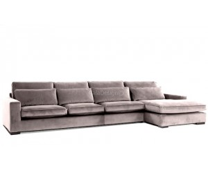 Canapé d'angle avec une méridienne à gauche ou droit coloris tissu cream beige COAST