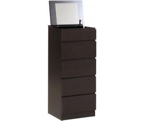 Commode 5 tiroirs + miroir intégré DEFINIT