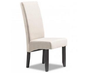 Chaise de salle à manger contemporaine en tissu BADINE
