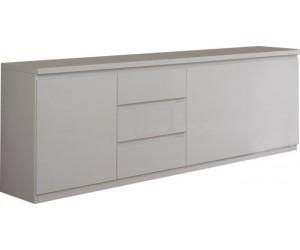 Bahut design blanc à 3 portes et 3 tiroirs MADRID