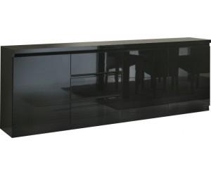 Bahut design noir à 3 portes et 3 tiroirs MADRID-2