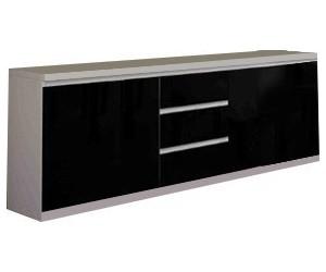Bahut design noir et blanc à 3 portes et 3 tiroirs MADRID-4