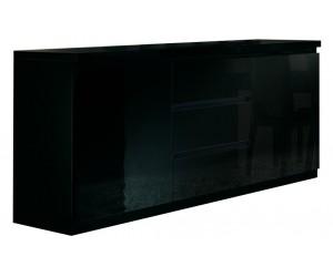 Bahut design noir à 2 portes et 3 tiroirs MADRID-2