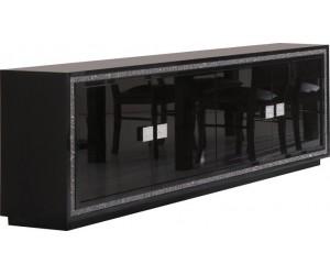 Bahut ultra design noir laqué avec strass KRISTAL-3
