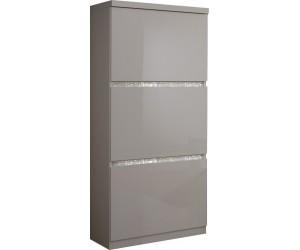 Meuble de rangement 3 portes blanc laqué avec cristaux WAREMME